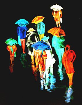 Rainy Night van Eberhard Schmidt-Dranske