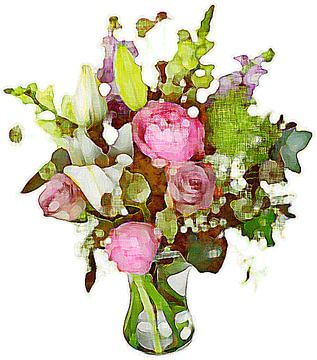 Bloemen aquarel van PictureWork - Digital artist