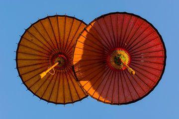 Parapluies suspendus sur Adri Vollenhouw