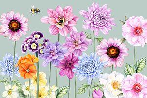 Blumenfeld von Geertje Burgers