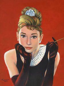 Portret Audrey Hepburn van