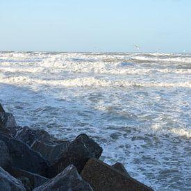 Pierewaaien van Op Het Strand