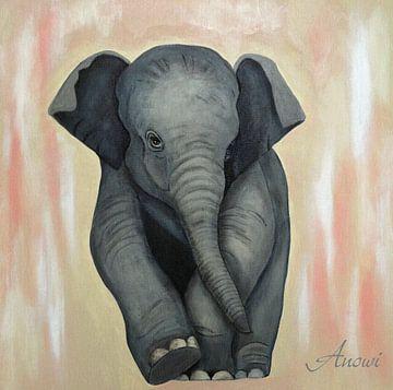 Baby Elephant 2 sur Iwona Sdunek alias ANOWI