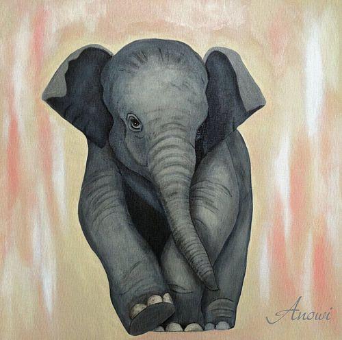 Baby Elephant2 van Iwona Sdunek alias ANOWI