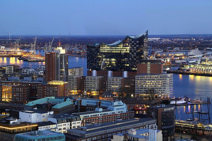 Hamburg von oben van Patrick Lohmüller