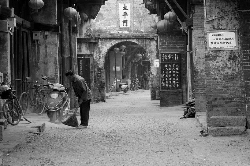 Ancienne rue atmosphère en Chine rurale sur Inge Hogenbijl