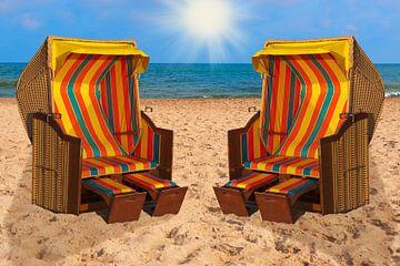 Baltic Sea beach chairs sur Gunter Kirsch