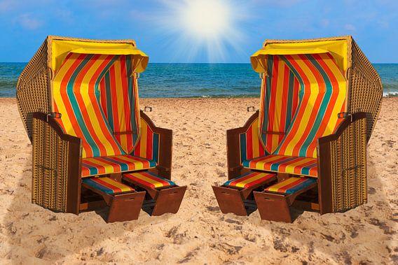 Baltic Sea beach chairs van Gunter Kirsch