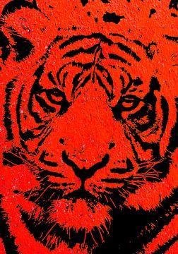 Tiger red von PictureWork - Digital artist