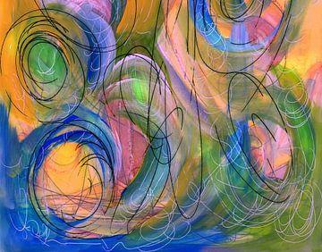 Wirbelwind Grafik - Popart von Claudia Gründler