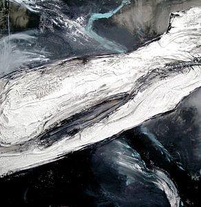 abstraktion schwarz-weiss 2 van