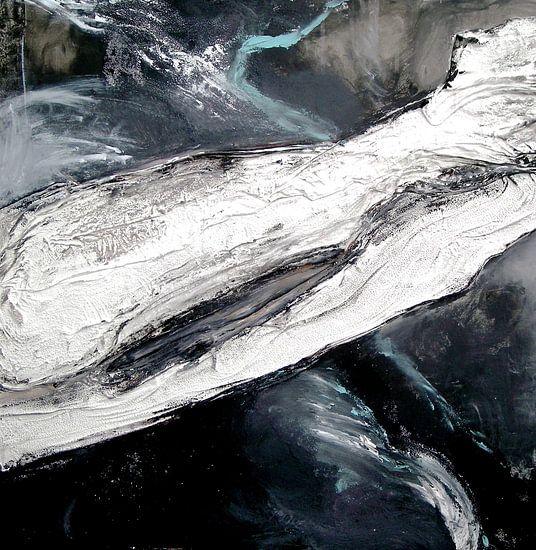 abstraktion schwarz-weiss 2 van walli gutmann