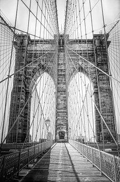 Brooklyn Bridge symmetrie van Joris Pannemans - Loris Photography