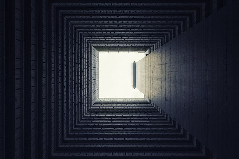 Abstracte architectuur, Hongkong Ping shek estate van Aad Clemens