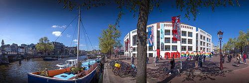 Stopera I Amsterdam panorama van