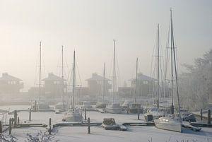 Koude en ijs in jachthaven