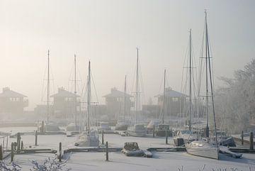 Kälte und Eis im Yachthafen Schokkerhaven von PvdH Fotografie