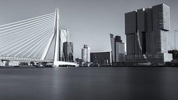 Erasmusbrug en De Rotterdam van Amir Cengic