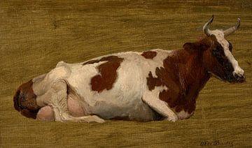 Studie einer ruhenden Kuh, Otto Bache