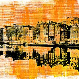 Amsterdam - yellow and black von PictureWork - Digital artist