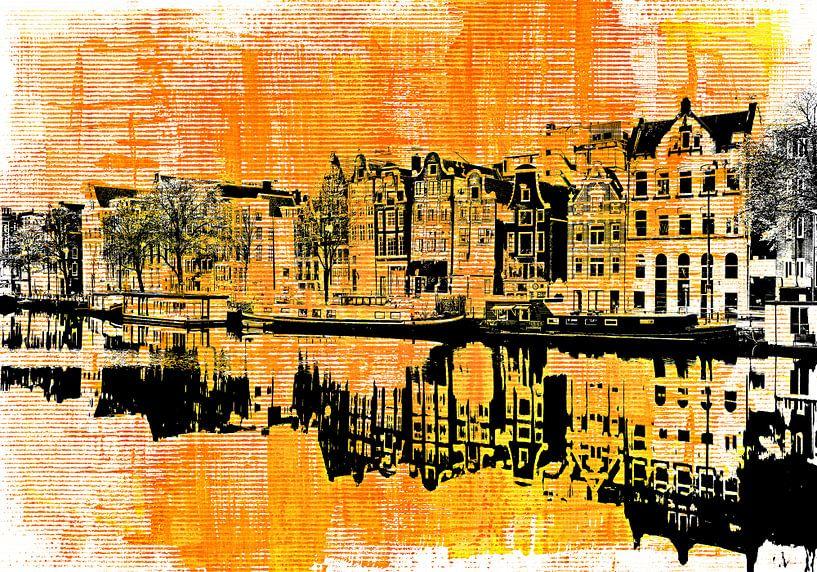 Amsterdam - yellow and black sur PictureWork - Digital artist
