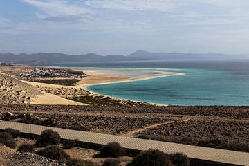 Playa de Sotavento, Fuerteventura, Canarische Eilanden van Daan Duvillier