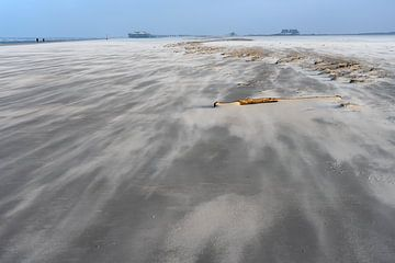 Tempête de sable Saint Pierre Ording sur Angelika Stern