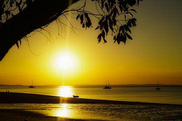 Zonsondergang Fraser Island van Ivo de Rooij