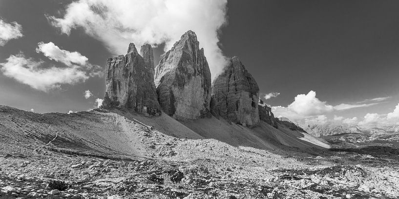 De Drei Zinnen in de Dolomieten in Italië - 4 van Tux Photography