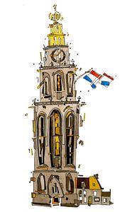 Martinitoren Groningen van Lars Wilting