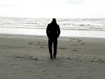 Strandwandeling aan de kust van Bloemendaal von Ingrid Van Maurik