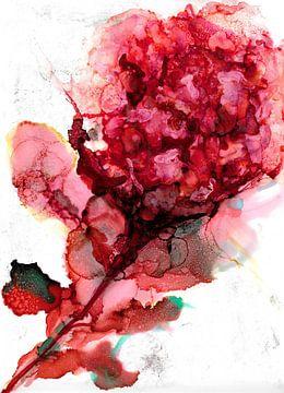Roze rode hibiscus van Ineke de Rijk