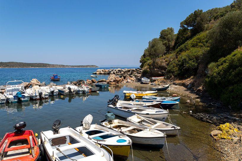 Bootjes op Samos van Elly Damen