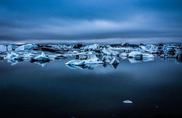 Jokulsarlon gletsjermeer IJsland van Kim Claessen