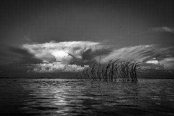 Zonsondergang op het Malawimeer van Ed Peeters
