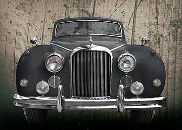 Jaguar Mark IX in zwart antiek van aRi F. Huber