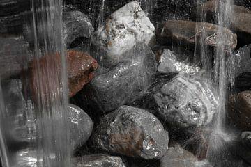 Waterval met kiezels  van
