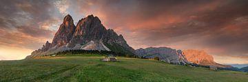 Alpenpanorama in den Dolomiten in Südtirol von Voss Fine Art Photography