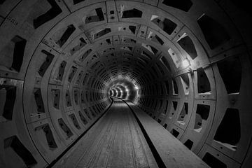 Verlaten metro gangen van Kristof Ven