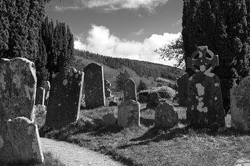 Grafstenen in de zon I van Peter Schütte