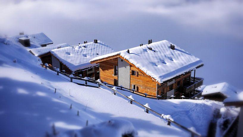 Veysonnaz Zwitserland Winter van Norbert Stellaard