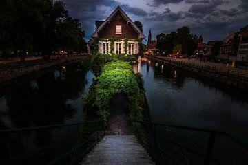 Frankrijk Straatsburg, Straatsburg, vakwerkhuis in de avonduren van Fotos by Jan Wehnert