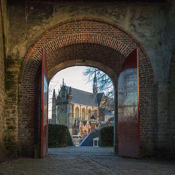 Doorkijkje vanaf de Leidse Burcht von Richard Steenvoorden