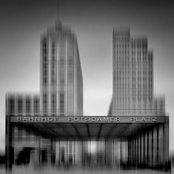 City-Shapes BERLIN POTSDAMER PLATZ I black&white