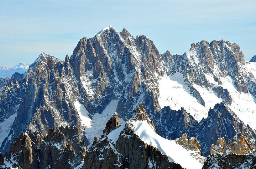 Mont Blanc Massief van Paul van Baardwijk