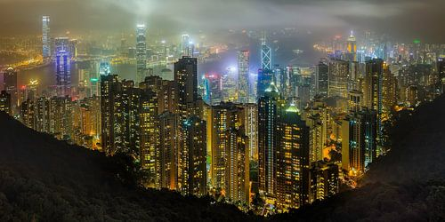 Hong Kong in de nacht von Roy Poots