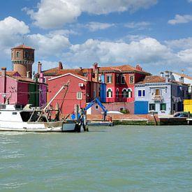 Burano in der Lagune von Venedig von Peter Eckert