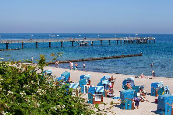 Strand und Seebrücke, Kühlungsborn, Mecklenburg-Vorpommern, Deutschland, Europa