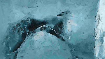Abstract - IJs, Koud, IJskoud Water van Schildersatelier van der Ven