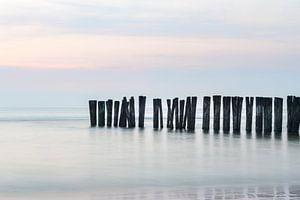 Wellenbrecher De Kerf Bergen aan Zee von Jefra Creations